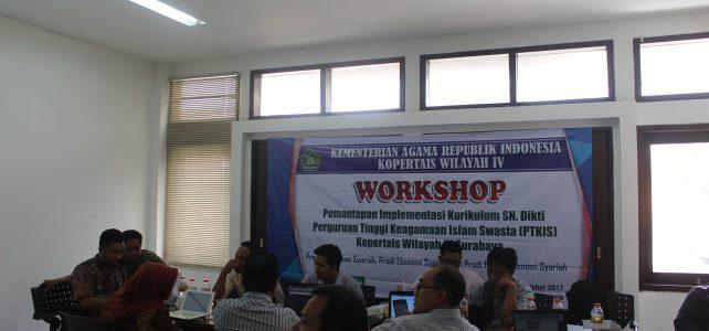 Prodi Ekonomi Syariah dalam Workshop Pemantapan Implementasi Kurikulum SN Dikti