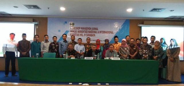Pengelola Jurnal Prodi Ekonomi Syariah dalam Workshop Manajemen Jurnal Menuju Akreditasi Jurnal Nasional Dan International
