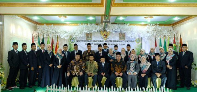 PELANTIKAN REKTOR DAN PEJABAT STRUKTURAL INSTITUT AGAMA ISLAM AL HIKMAH TUBAN PERIODE 2020-2025